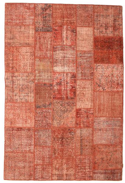 Patchwork Koberec 202X301 Moderní Ručně Tkaný Červená/Světle Růžová (Vlna, Turecko)
