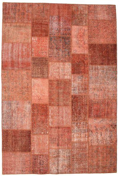 Patchwork Koberec 201X300 Moderní Ručně Tkaný Červená/Tmavě Červená (Vlna, Turecko)