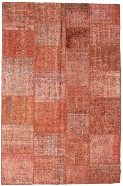 Patchwork Koberec 196X300 Moderní Ručně Tkaný Červená/Tmavě Červená (Vlna, Turecko)