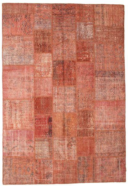 Patchwork Koberec 202X297 Moderní Ručně Tkaný Červená/Světle Růžová/Tmavě Červená (Vlna, Turecko)