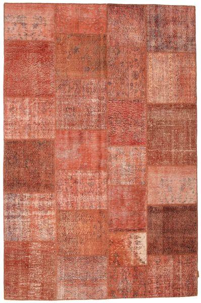 Patchwork Koberec 198X302 Moderní Ručně Tkaný Červená/Tmavě Červená (Vlna, Turecko)