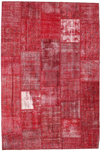 Patchwork Koberec 203X302 Moderní Ručně Tkaný Červená/Červenožlutá (Vlna, Turecko)