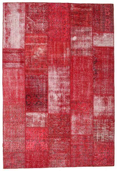 Patchwork Koberec 203X301 Moderní Ručně Tkaný Červená/Červenožlutá (Vlna, Turecko)