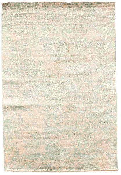 Damask Koberec 168X246 Moderní Ručně Tkaný Béžová/Bílý/Krém ( Indie)