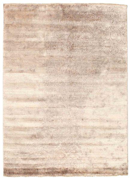 Damask Koberec 175X240 Moderní Ručně Tkaný Bílý/Krém/Tmavě Hnědá ( Indie)