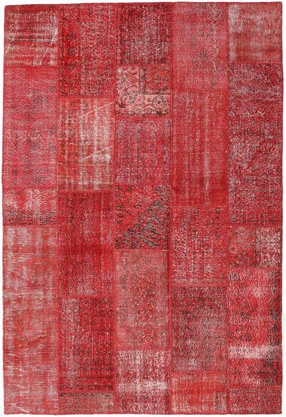 Patchwork Koberec 202X299 Moderní Ručně Tkaný Červenožlutá/Tmavě Červená (Vlna, Turecko)