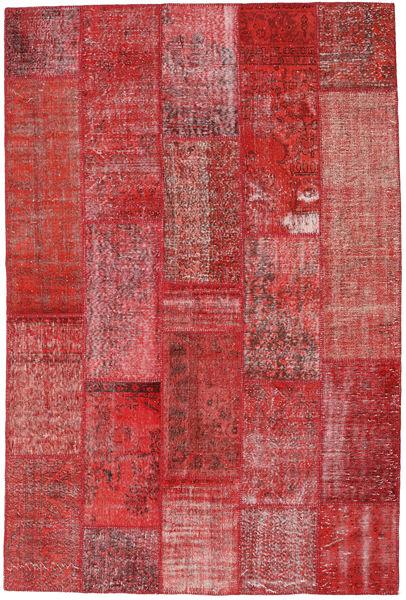 Patchwork Koberec 202X302 Moderní Ručně Tkaný Tmavě Červená/Červenožlutá (Vlna, Turecko)