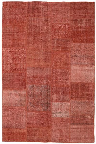 Patchwork Koberec 196X304 Moderní Ručně Tkaný Tmavě Červená/Červenožlutá (Vlna, Turecko)