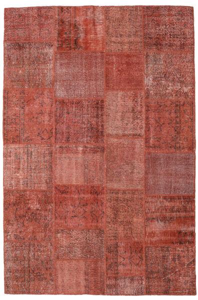 Patchwork Koberec 197X300 Moderní Ručně Tkaný Tmavě Červená (Vlna, Turecko)