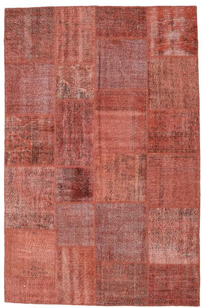 Patchwork Koberec 196X300 Moderní Ručně Tkaný Tmavě Červená/Hnědá (Vlna, Turecko)