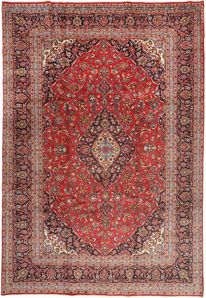 Yazd Koberec 243X358 Orientální Ručně Tkaný Tmavě Červená/Tmavě Hnědá (Vlna, Persie/Írán)