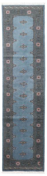 Pákistán Bokhara 2Ply Koberec 78X304 Orientální Ručně Tkaný Běhoun Modrá/Tmavě Modrý/Tmavošedý (Vlna, Pákistán)