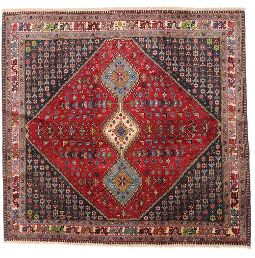 Yalameh Koberec 192X200 Orientální Ručně Tkaný Čtvercový Tmavě Červená/Tmavě Hnědá (Vlna, Persie/Írán)