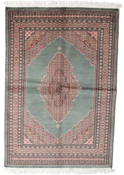 Pákistán Bokhara 3Ply Koberec 143X208 Orientální Ručně Tkaný Tmavošedý/Bílý/Krém (Vlna, Pákistán)