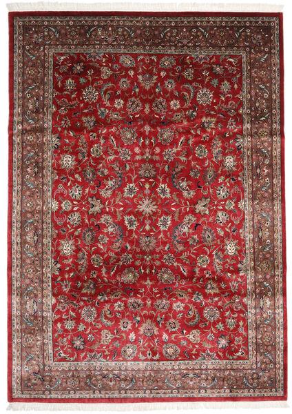 Sarough Indické Koberec 247X348 Orientální Ručně Tkaný Tmavě Červená/Tmavě Hnědá (Vlna, Indie)