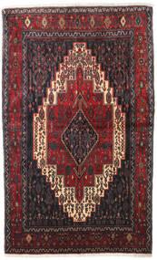 Senneh Koberec 128X210 Orientální Ručně Tkaný Tmavě Hnědá/Tmavě Červená (Vlna, Persie/Írán)