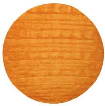 Handloom - Oranžová Koberec Ø 300 Moderní Oválný Žlutý/Oranžová/Světle Hnědá Velký (Vlna, Indie)