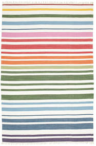 Rainbow Stripe - White Koberec 200X300 Moderní Ruční Tkaní Bílý/Krém (Bavlna, Indie)