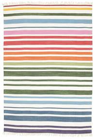 Rainbow Stripe - White Koberec 160X230 Moderní Ruční Tkaní Bílý/Krém (Bavlna, Indie)
