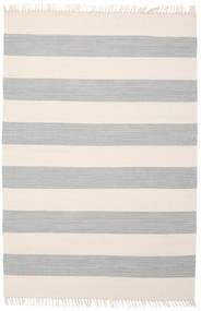 Cotton Stripe - Steel Grey Koberec 140X200 Moderní Ruční Tkaní Béžová/Světle Šedá (Bavlna, Indie)