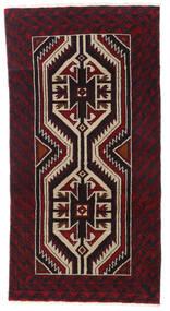 Beluch Koberec 87X167 Orientální Ručně Tkaný Tmavě Hnědá/Tmavě Červená (Vlna, Persie/Írán)