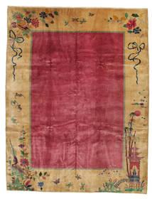 Čína Antický: Art Deco 1920 Koberec 275X360 Orientální Ručně Tkaný Světle Hnědá/Červená/Tmavě Červená Velký (Vlna, Čína)