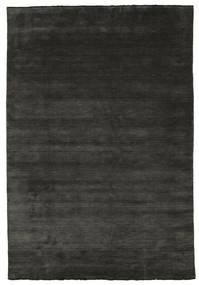 Handloom Fringes - Černá/Šedá Koberec 220X320 Moderní Černá/Tmavošedý (Vlna, Indie)