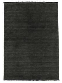Handloom Fringes - Černá/Šedá Koberec 140X200 Moderní Černá (Vlna, Indie)