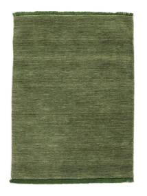 Handloom Fringes - Zelená Koberec 140X200 Moderní Olivově Zelený/Tmavě Zelený (Vlna, Indie)