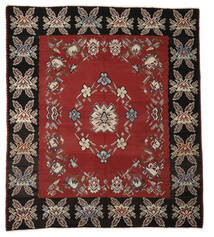 Kelim Semi Antický Koberec 275X310 Orientální Ruční Tkaní Červenožlutá/Tmavošedý Velký (Vlna, Slovinsko)