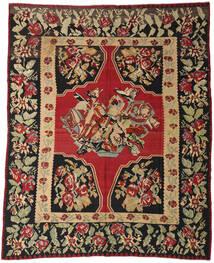 Kelim Semi Antický Koberec 287X355 Orientální Ruční Tkaní Tmavě Červená/Černá Velký (Vlna, Slovinsko)