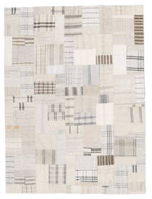 Kelim Patchwork Koberec 171X230 Moderní Ruční Tkaní Béžová/Bílý/Krém (Vlna, Turecko)