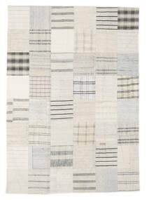 Kelim Patchwork Koberec 171X240 Moderní Ruční Tkaní Béžová/Bílý/Krém (Vlna, Turecko)