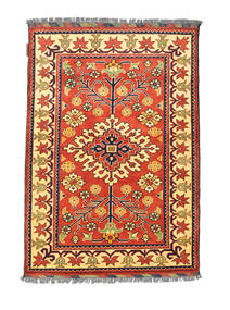 Afghán Kargahi Koberec 84X122 Orientální Ručně Tkaný Červená/Tmavá Béžová (Vlna, Afghánistán)