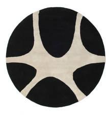 Stones Handtufted - Černá Koberec Ø 150 Moderní Oválný Černá/Světle Šedá (Vlna, Indie)