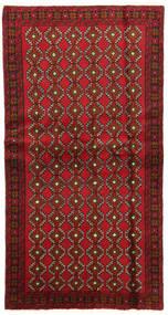 Beluch Koberec 100X191 Orientální Ručně Tkaný Tmavě Červená/Tmavě Hnědá (Vlna, Persie/Írán)