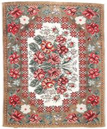 Kilim Rose Moldavia Koberec 177X213 Orientální Ruční Tkaní Světle Hnědá/Tmavě Hnědá (Vlna, Moldavsko)