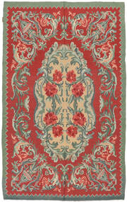Kilim Rose Moldavia Koberec 154X242 Orientální Ruční Tkaní Červenožlutá/Olivově Zelený (Vlna, Moldavsko)