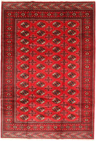 Turkaman Koberec 201X293 Orientální Ručně Tkaný Červenožlutá/Tmavě Červená/Červená (Vlna, Persie/Írán)