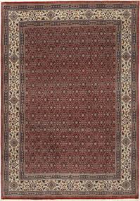 Moud Sherkat Farsh Koberec 201X292 Orientální Ručně Tkaný Tmavě Červená/Tmavošedý (Vlna/Hedvábí, Persie/Írán)