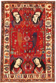 Ghashgai Figurální/Obrazový Koberec 153X235 Orientální Ručně Tkaný Červenožlutá/Tmavě Červená (Vlna, Persie/Írán)