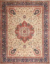 Tabriz Patina Koberec 305X390 Orientální Ručně Tkaný Světle Hnědá/Béžová Velký (Vlna, Persie/Írán)