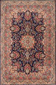 Kerman Koberec 238X363 Orientální Ručně Tkaný Tmavě Červená/Tmavě Hnědá (Vlna, Persie/Írán)