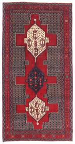 Senneh Patina Koberec 145X299 Orientální Ručně Tkaný Tmavě Hnědá/Červená (Vlna, Persie/Írán)