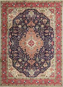 Tabriz Patina Koberec 250X350 Orientální Ručně Tkaný Tmavošedý/Hnědá Velký (Vlna, Persie/Írán)