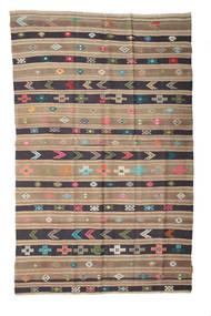 Kelim Semi Antický Turecko Koberec 158X248 Orientální Ruční Tkaní Světle Hnědá/Světle Šedá/Tmavošedý (Vlna, Turecko)