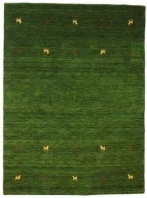 Gabbeh Loom Two Lines - Zelená Koberec 140X200 Moderní Tmavě Zelený (Vlna, Indie)