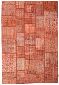 Patchwork Koberec 202X298 Moderní Ručně Tkaný Červená/Světle Růžová (Vlna, Turecko)