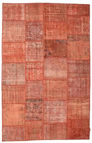 Patchwork Koberec 195X302 Moderní Ručně Tkaný Červená/Světle Hnědá (Vlna, Turecko)