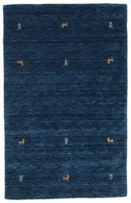 Gabbeh Loom Two Lines - Tmavě Modrý Koberec 100X160 Moderní Tmavě Modrý (Vlna, Indie)